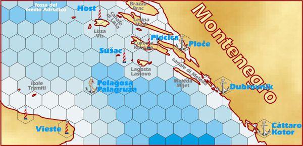 Il mare Adriatico all'altezza di Pelagosa